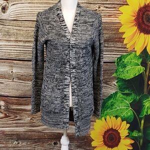 Ambiance black & gray cardigan sweater Size Large